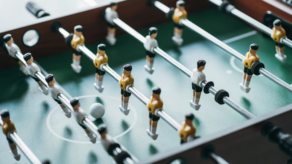 JCLM Solicitors Table Football Motif.